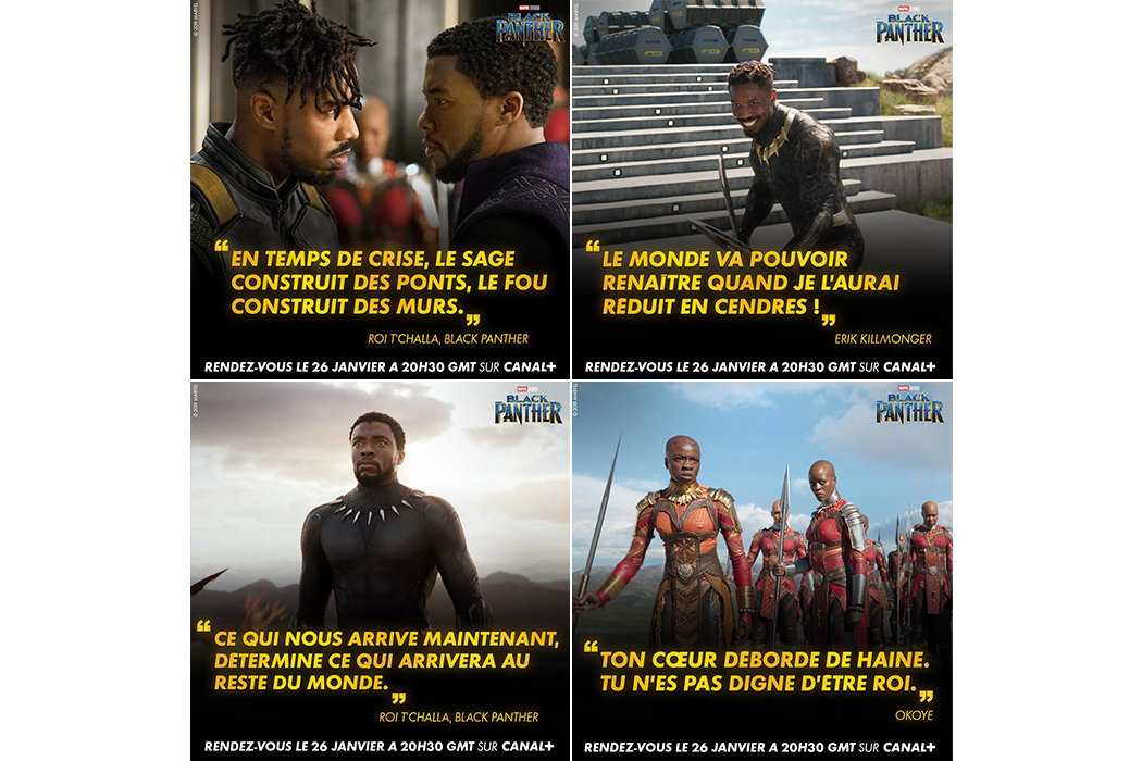 Black Panther quotes for CANAL+