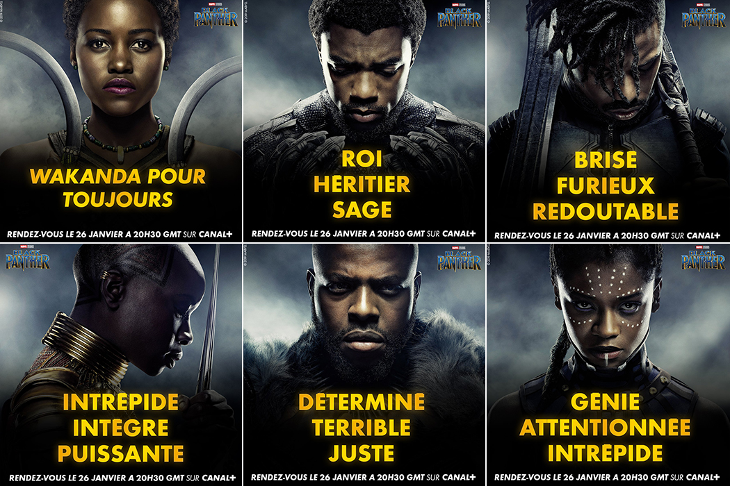Black Panther characters description for CANAL+